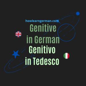 Genitive in German - Genitivo in Tedesco